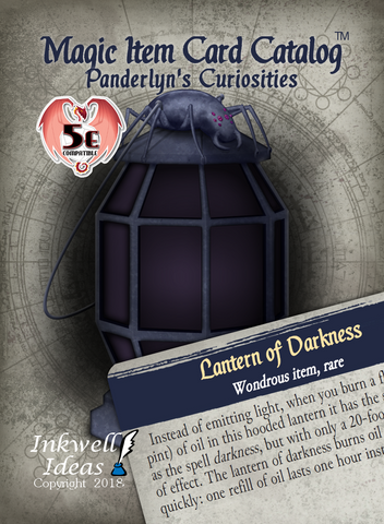Magic Item Card Catalog (5e): Panderlyn's Curiosities