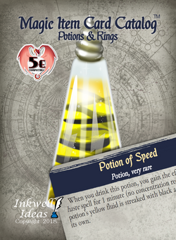 Magic Item Card Catalog (5e): Potions & Rings