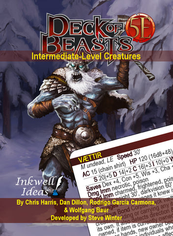 Deck of Beasts: Intermediate-Level Creatures