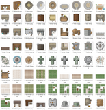 Cityographer Medieval City Map Icons Set