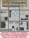 Cityographer Modern City Map Icons Set
