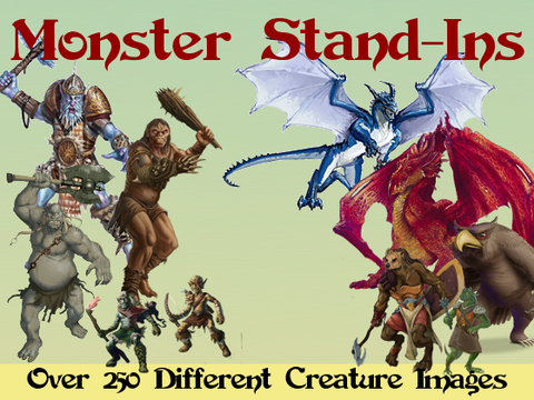 Monster Stand-Ins Cardstock Minis