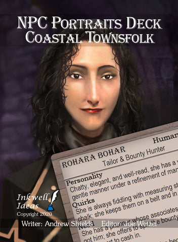 NPC Portraits Deck: Coastal Townsfolk