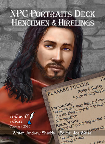 NPC Portraits Deck: Henchmen & Hirelings