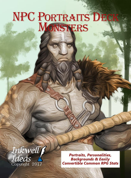 NPC Portraits Deck: Monsters