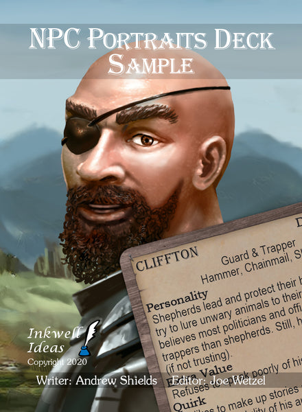 NPC Portraits Deck: Sample/Preview