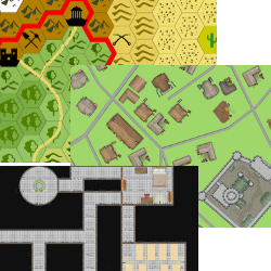 Bundle: Hexographer, Worldographer (Hexographer 2), Cityographer, and Dungeonographer Pro Versions