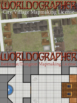Bundle: City/Town/Village and Dungeon/Battlemat Licenses for Worldographer