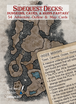 Sidequest Decks: Dungeons, Caves, & Ruins Fantasy