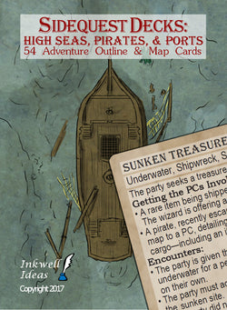 Sidequest Decks: High Seas, Pirates, & Ports