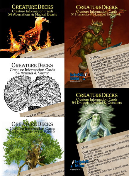 Bundle: Creature Decks 5 Ecologies/System Neutral Decks