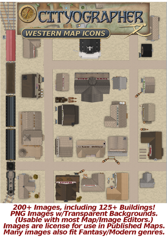 Cityographer Western City Map Icons Set