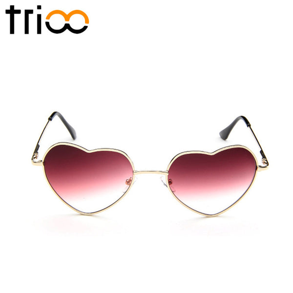TRIOO Women's Heart Shaped Gradient Sunglasses - Sunglasses Deal Center