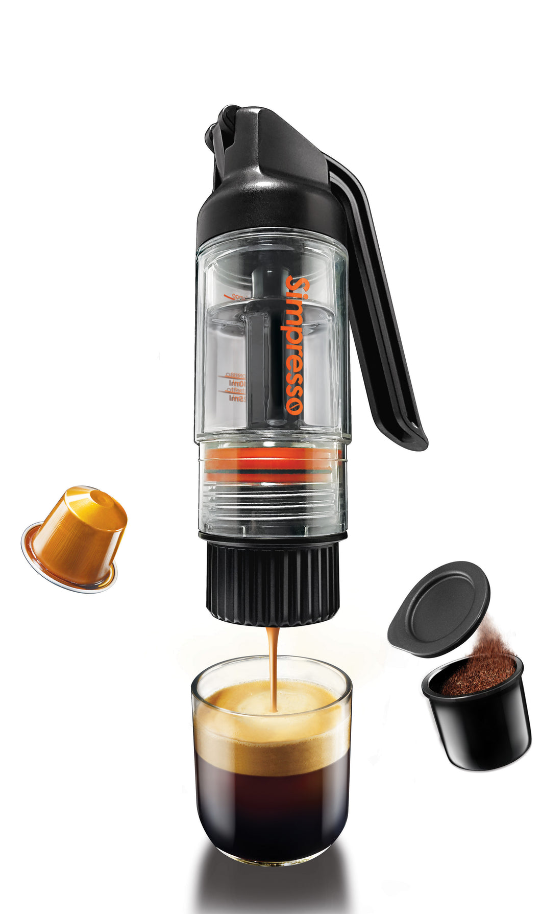 SIMPOSH SIMPRESSO PORTABLE ESPRESSO MAKER (PREMIUM TRAVEL PACKAGE) - ALL ACCESSORIES INCLUDED