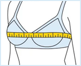 Step 2 in bra sizing