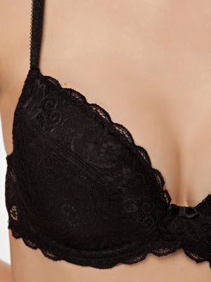 Milavitsa Classic 12328 Cotton Push-Up Bra, Black - MissVenera.com