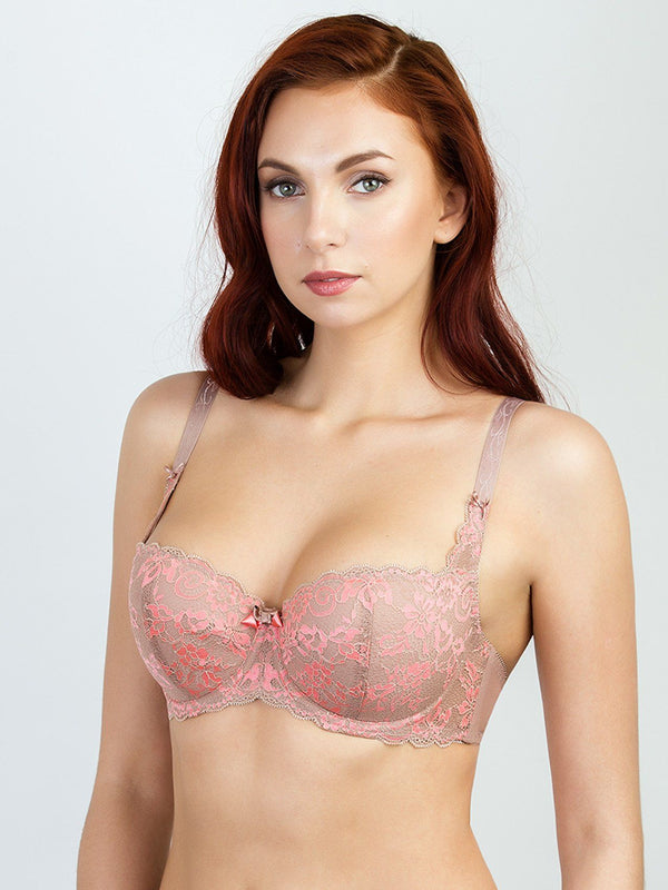 Milavitsa 12529 Fashion Cotton Balconette Bra Vintage Rose - MissVenera.com
