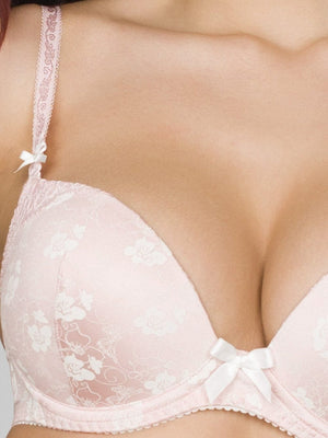 Milavitsa Freesia Bouquet Lace Push-Up Bra 12576: Pink Pearls - Miss Venera