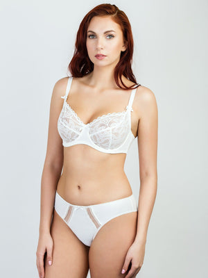 Milavitsa Charming Lotus Unlined Bra, Off White - MissVenera.com