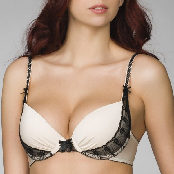 Milavitsa 12654 Fashion Push-Up Bra Ecru - MissVenera.com