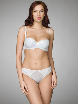 Milavitsa Clusters of Wisteria Cotton Balconette Bra, Light Blue - MissVenera.com