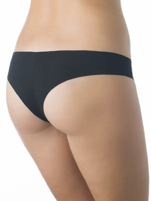 Milavitsa Cotton Seamless Cheeky 26732: Black - Miss Venera