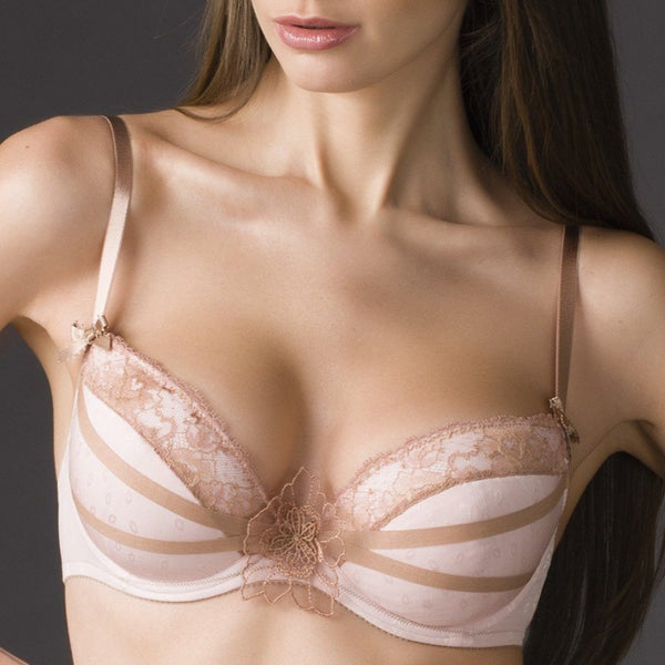 Alisee 77634 Cotton Push-Up Bra Praline - MissVenera.com