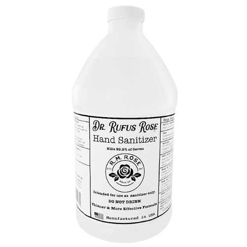 Dr Rufus Rose Hand Sanitizer 1/2 Gallon