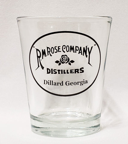 Shot Glass RM Rose Company Dillard Georgia
