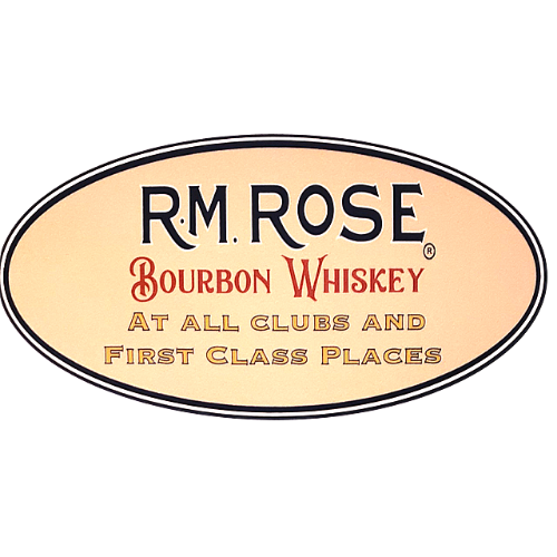 Sticker - RM Rose Bourbon Whiskey oval shape