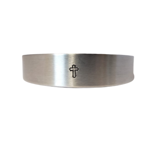 Bracelet - Bevel Cross Silver