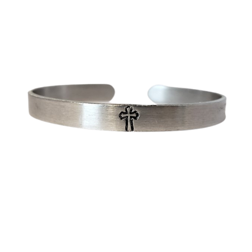 Bracelet - Cross Slim Silver
