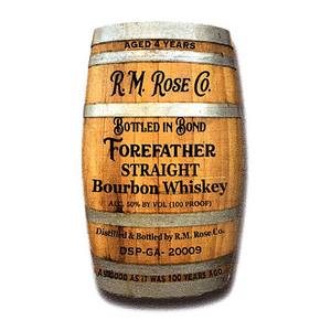 Sticker - Forefather Straight Bourbon Whiskey BARREL SHAPE