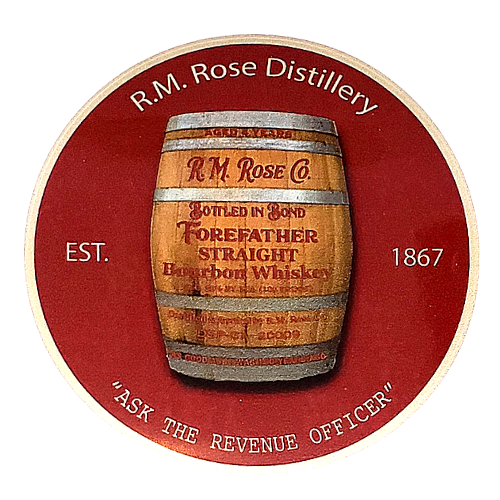 Sticker - R.M. Rose Distillery Barrel