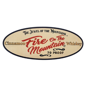 Sticker - Fire on the Mountain Cinnamon Whiskey OVAL SHAPE