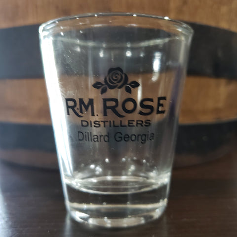 Shot Glass R.M. Rose, Dillard Ga