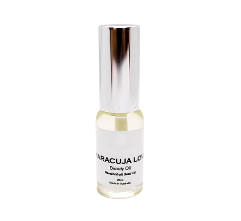 Coast Sydney Botancals Maracuja Oil or Passionfruit Seed Oil. Beauty Oil for hydrated skin suits oily skin. High in Linoleic acid.