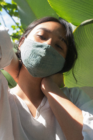 Cotton or Cotton/Tencel face mask with 4 PM2.5 filters