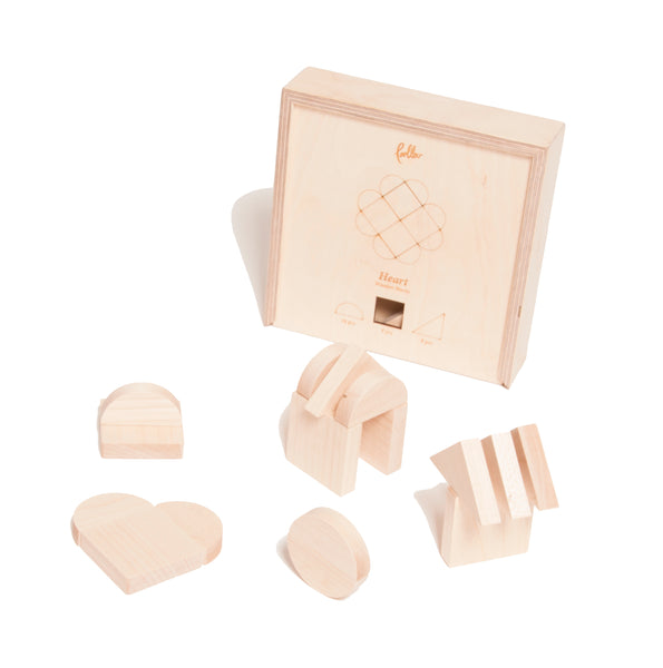 Wooden Heartblocks - Package with 3 pcs