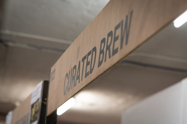 Curated Brew's stand