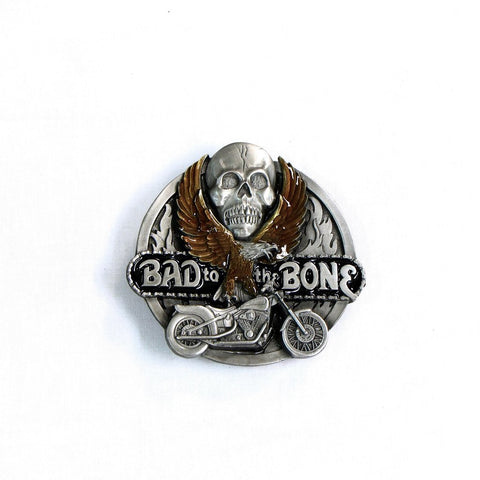 Bad to the Bone Belt Buckle - Biker Wear House