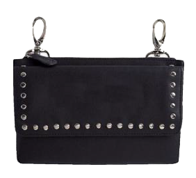 Studded Leather Clip Purse - Biker Wear House