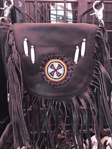 Bead and Concho Ride Purse - Biker Wear House