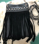 Fashion Clip Purse with Fringe and Bling - Biker Wear House