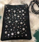 Fashion Clip Purse with Crystals and Studs - Biker Wear House