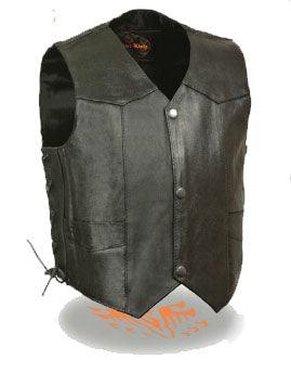 Toddler Black Leather Vest - Biker Wear House