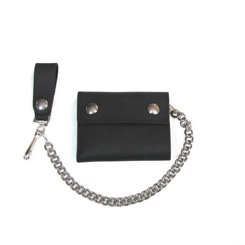 Oil Tanned Bifold Chain Wallet - Biker Wear House