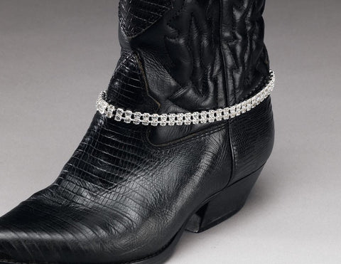 Rhinestone Boot Bracelet - Biker Wear House