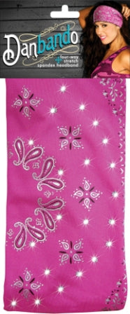 Danbando four-way Stretch Headband Pink Sparkle - Biker Wear House