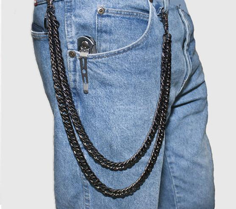 Double Steel Wallet Chain - Biker Wear House